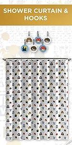 Shower Curtain amp; Hooks