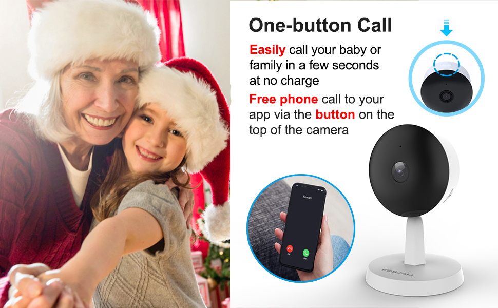 baby camera one button call