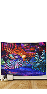 Trippy Mountain Galaxy Tapestry
