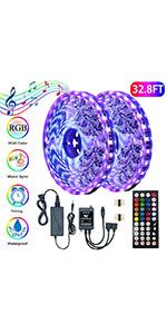 Music Sync RGB LED Strip Light Kit