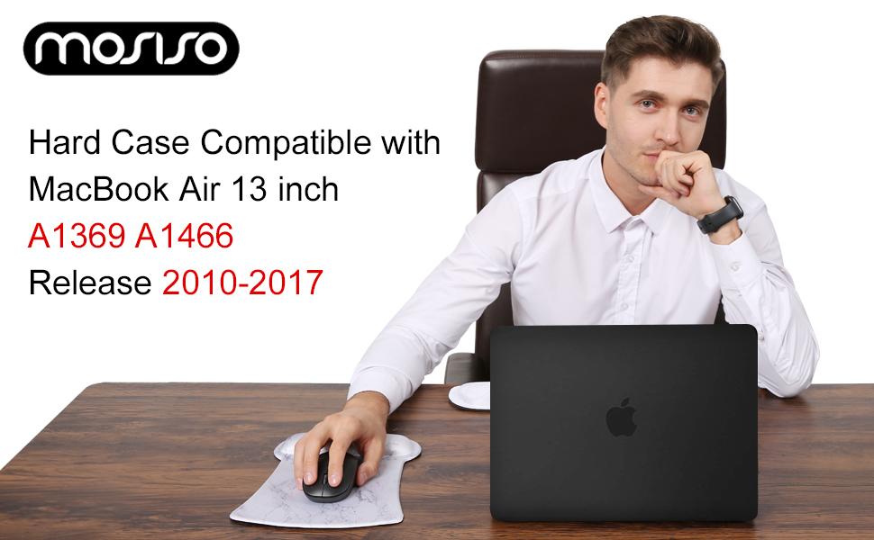 mit Displayschutzfolie mit Aufbewahrungstasche Deep Teal Hartschale Schutzh/ülle Kunststoff H/ülle mit Tastaturschutz EU Layout MOSISO H/ülle Kompatibel mit MacBook Air 13 Zoll A1369//A1466