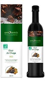 amOseeds Le Spécialiste des Super-Aliments Bio Élixir de Chaga Bio