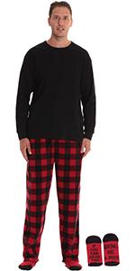 #followme Microfleece Men/'s Plaid Pajama Pants with Pockets