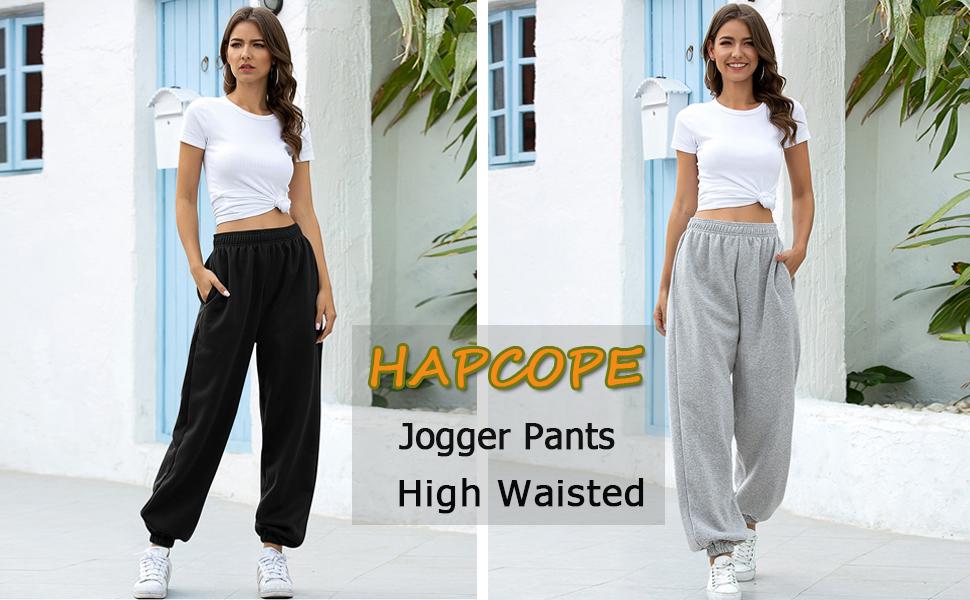Women's High Waisted Active Jogger Pants Sweatpants Lounge Bottoms