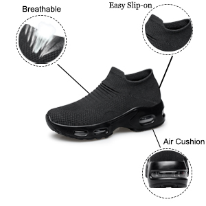 The shoes Feature is breathable,easy slip on,air cushion