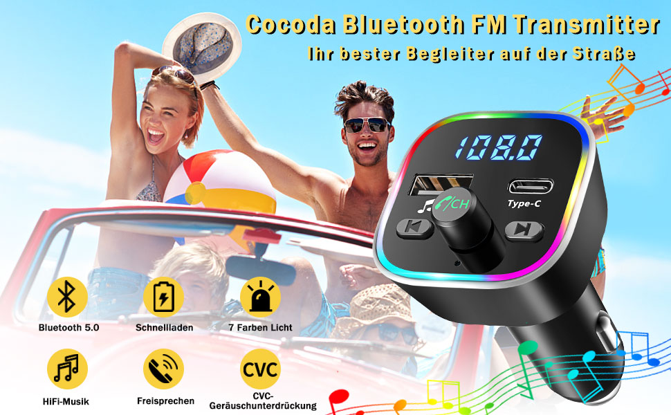 Fm Transmitter Cocoda V5 0 Bluetooth Adapter Car Elektronik