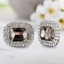 large rhinestone shoe clips smokey quartz halo jewelry shoe steve madden shoes sparkle brilliant new