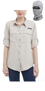women fishing shirt