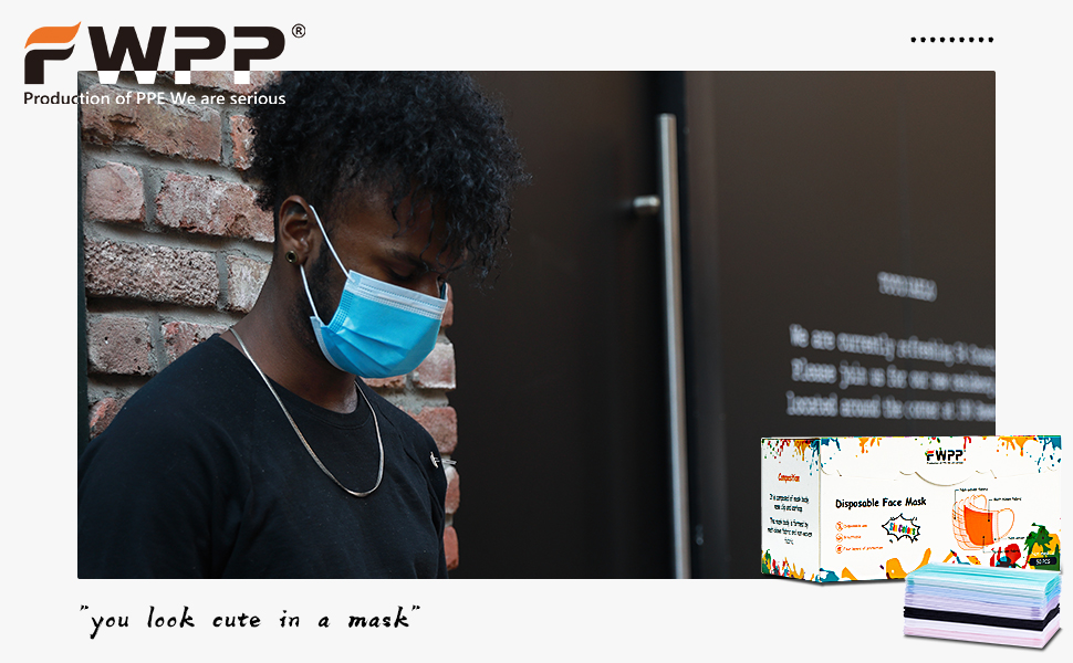 Fwpp disposable face mask