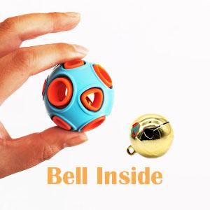 dog chew ball bell inside