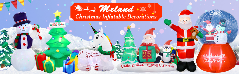 Meland christmas decorations