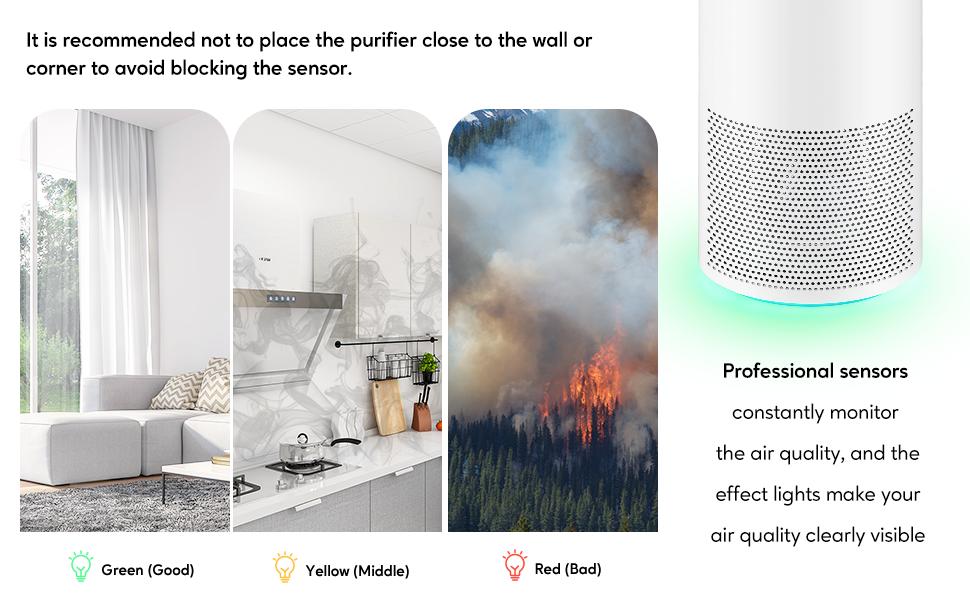 air purifier smart sensors