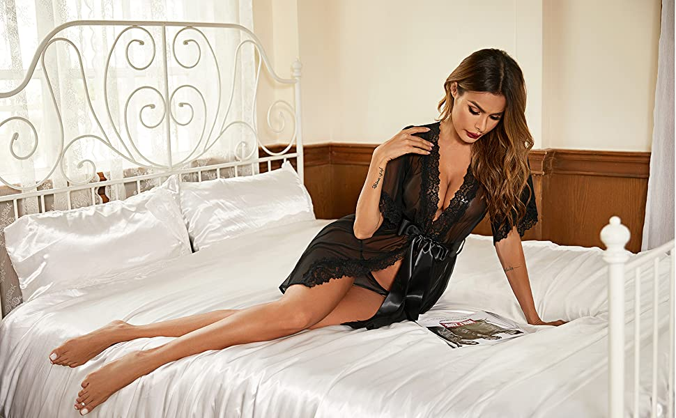 lace robes for women