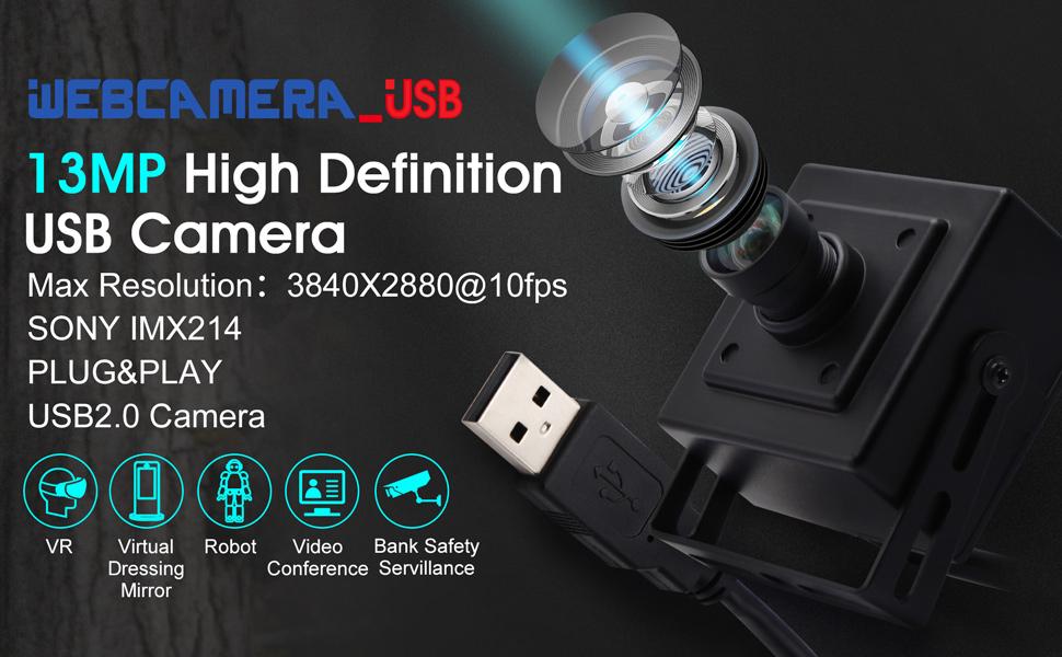 Autofocus 75 Degree No-Distortion lens Usb Camera