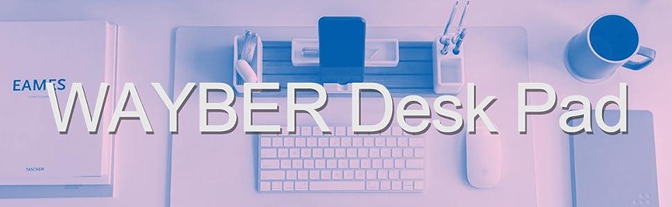 wayber desk pad logo