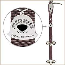 Original Dog Door Bell - Superior design with six large, loud bells and an adjustable length strap.
