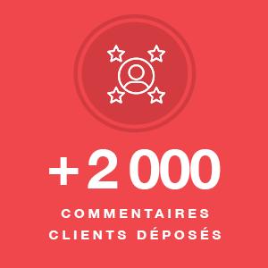 plus de 2000 commentaires clients deposes