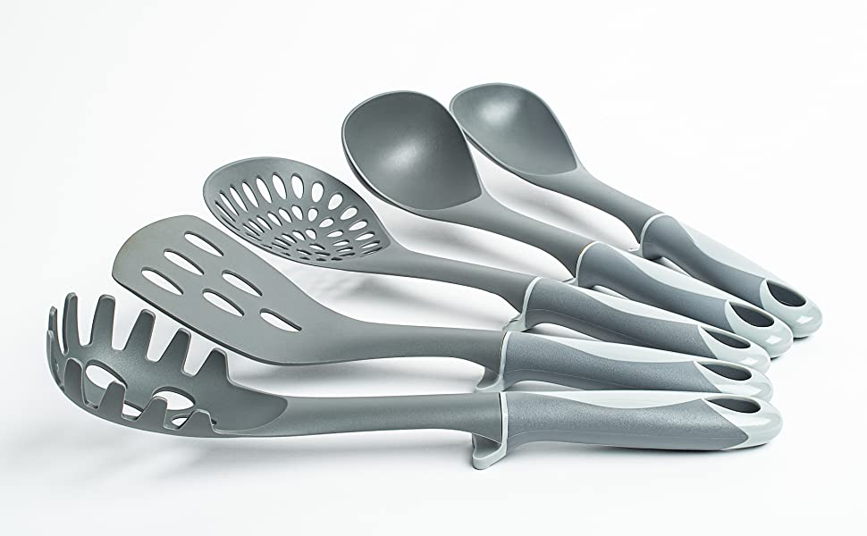 Unique Design with Elevated Stand on Each Utensil