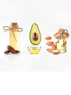 sweet almod oil, avocado oil, argan oil, moisturize, tone, acne, anti-aging, calms, brightens