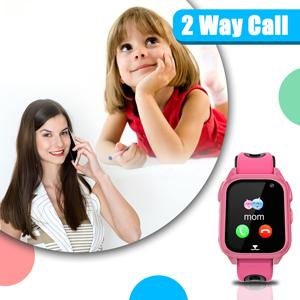 Kids Smartwatch with GPS Tracker Waterproof Phone Smartwatch 1.44 SOS Touch Screen Flashlight Camera