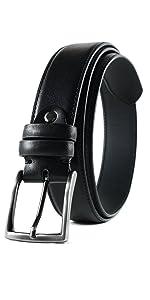 handmade leather belt casual dress black
