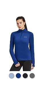 Dames UPF 50+ T-shirt met lange mouwen, uv-bescherming tegen de zon, sport, hardlopen, golf fietsen hoodie met duimgat