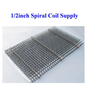 300sheets 1//2inch 12.7mm Metal Spiral Coils Punching Binding Material Supply