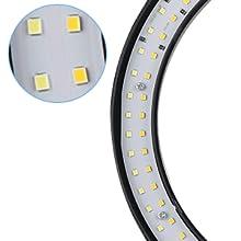 Bi-color LED design (60pcs yellow+60pcs white)