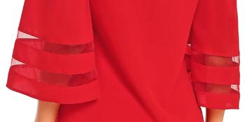 mesh panel blouse
