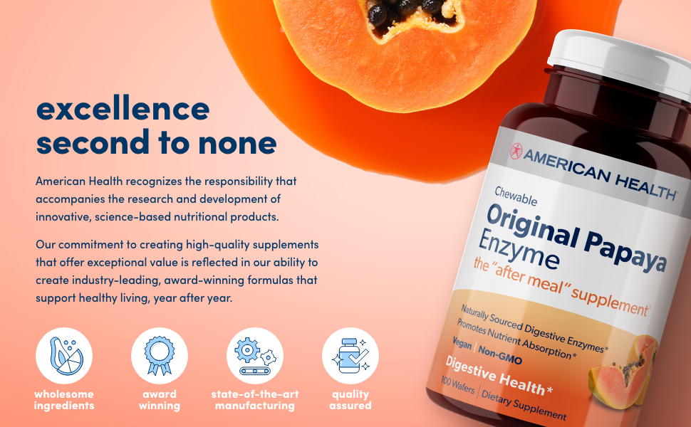 wholesome ingredients award winning state of the art manufacturing quality assured high quality