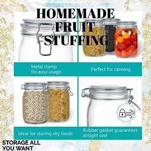 dried masla storage glass jars canister