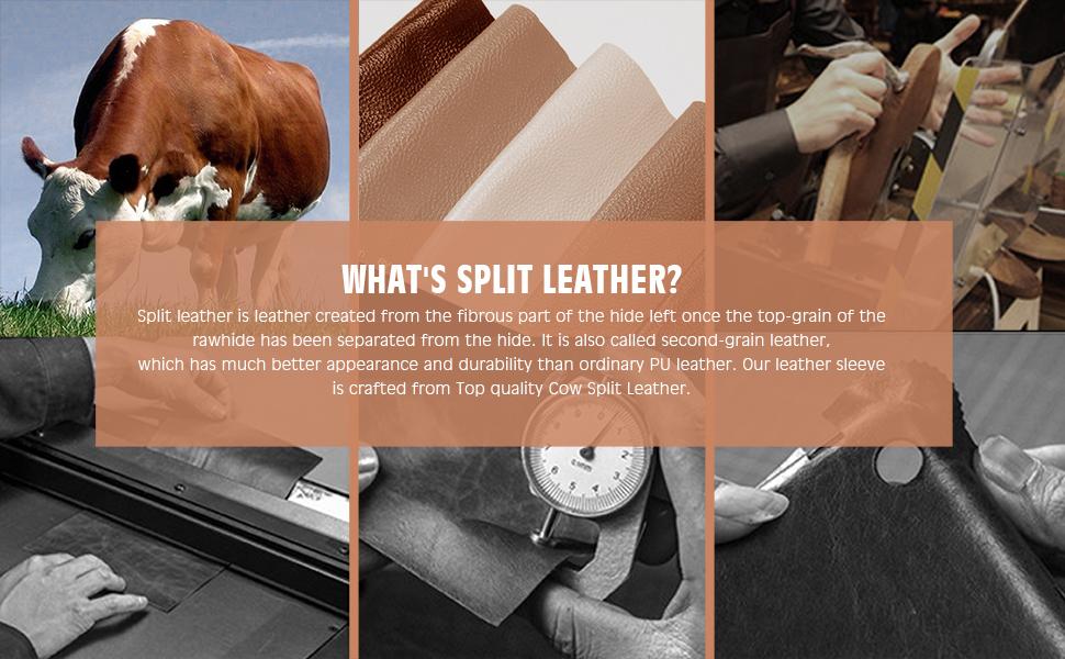 13-Inch Split Leather Laptop Sleeve