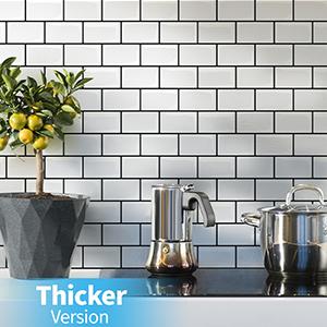 self-adhesive kitchen wall tiles subway white