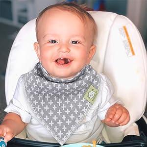 baby bibs bib girls girl boy bandana drool toddler teething newborn waterproof white feeding boys