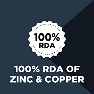 contains zinc and copper