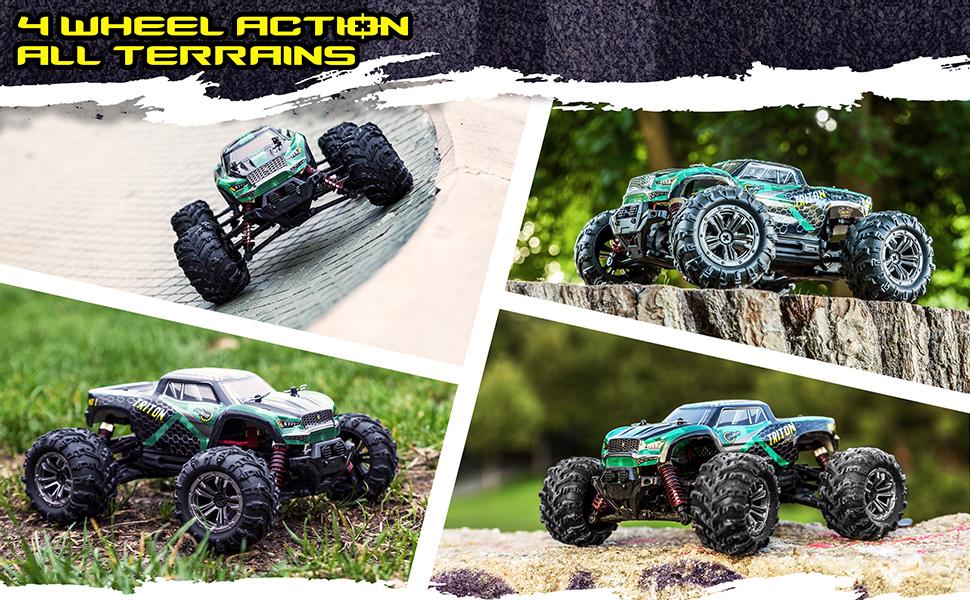 triton 4 wheel action all terrain truck