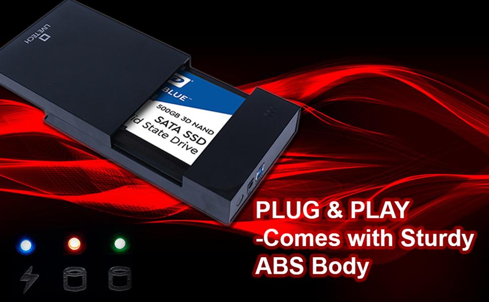 """Live Tech 2 in 1 USB 3.0 HDC05 Hard Disk Casing for 3.5""""/2.5"""" Hard Drive Disk EnclosureLED Indicator"""