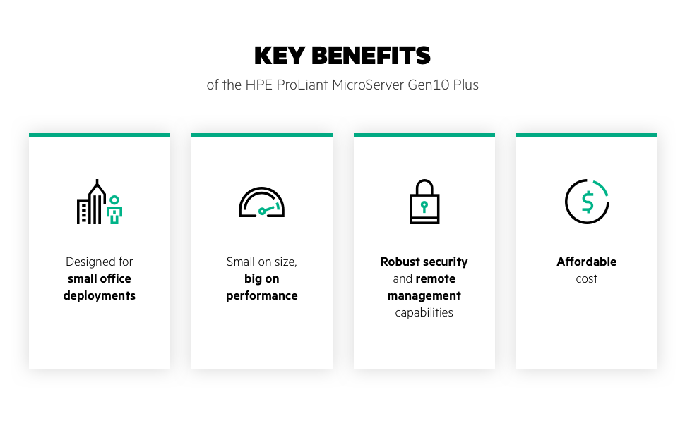 HPE MicroServer Gen10+ P16006-001 Key Benefits