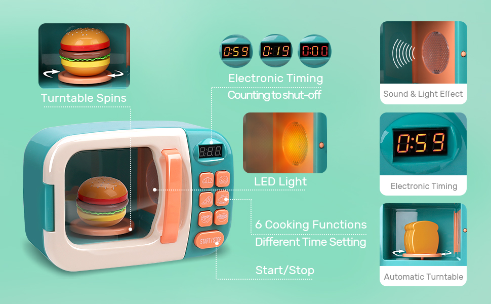 microwave kitchen playset