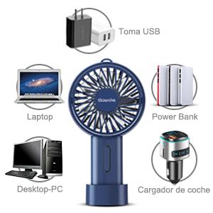 SAWAKE Ventiladores USB Silencioso,Mini Ventilador de Mano ...