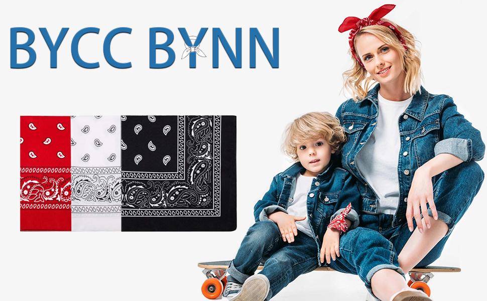 Bycc Bynn 3 Pack 100/% algod/ón patr/ón Paisley Bandanas m/áscara facial cuadrada bufanda Headwear
