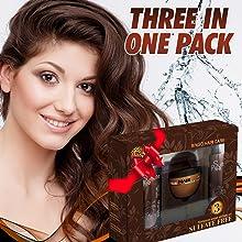 deep conditioning hair treatment and natural shampoo