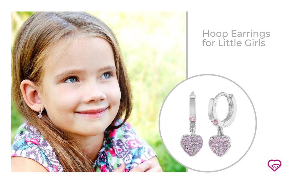 Hoop Earrings for Little Girls