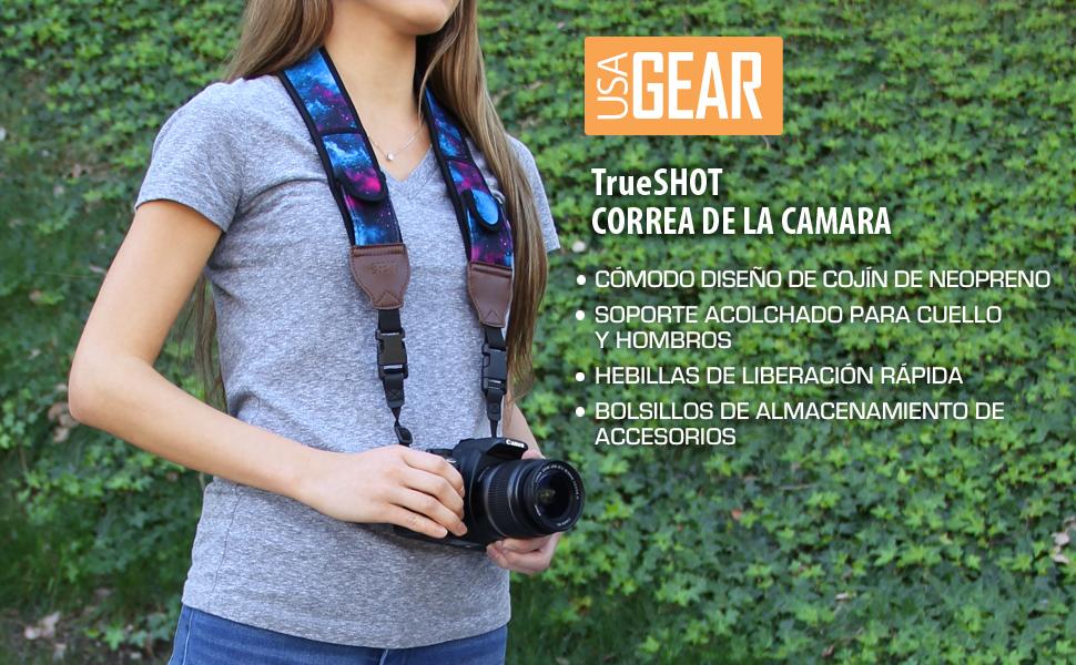 USA Gear Correa para Cámara de Fotos de Neopreno. Para Camaras ...