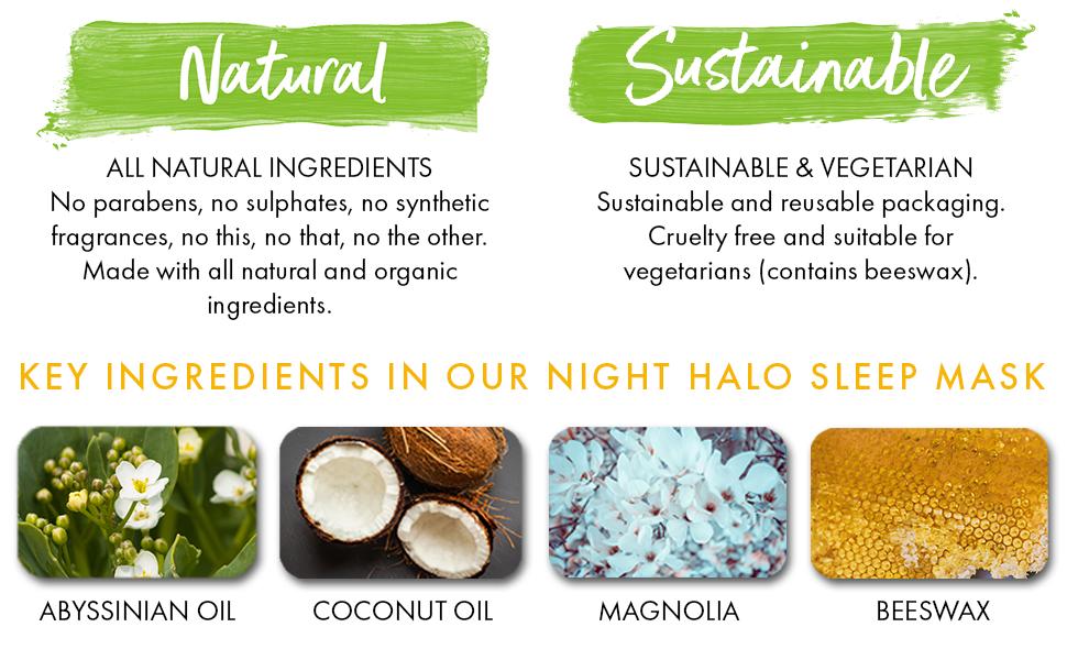natural, sustainable, key ingredients