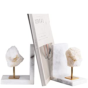 marble bookend white