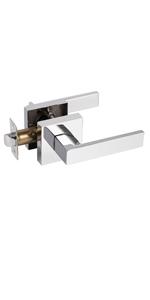 Polished chrome passage levers