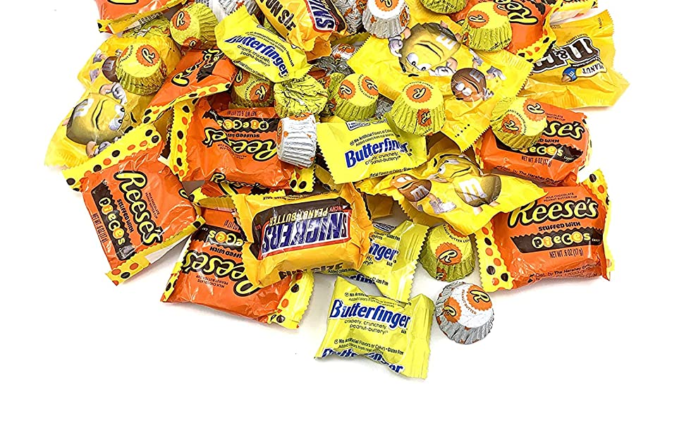 peanut butter candy bar individually wrapped pinata filler stocking stuffer halloween office bowl