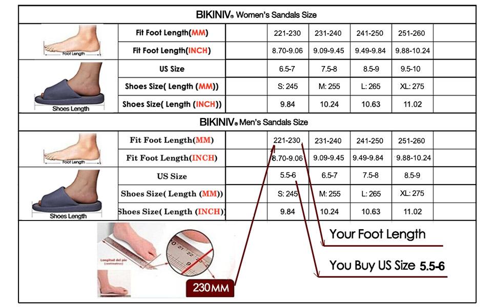 reflexology sandals size