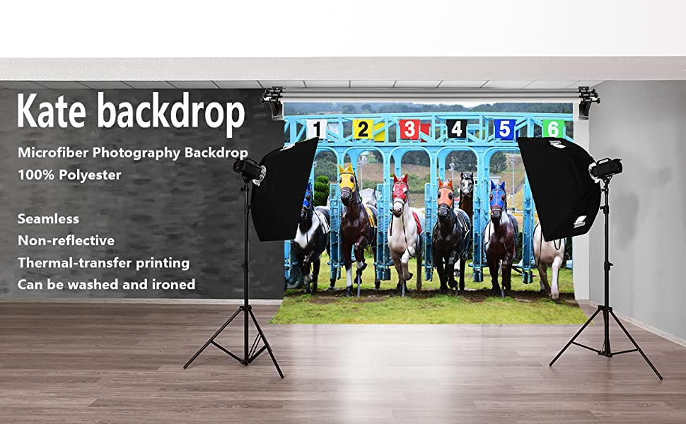 Studio Props DSPH405 Racing Riders Photography Background PHMOJEN Kentucky Derby Backdrop Vinyl 10x7ft